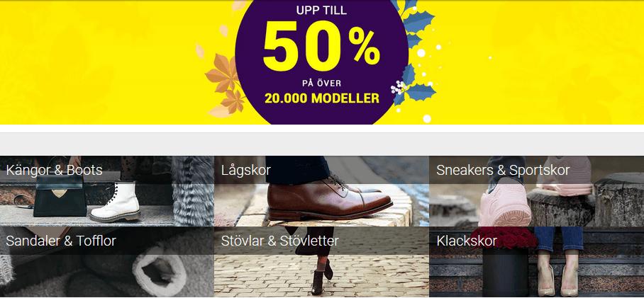 Upp till 50% rabatt på skor