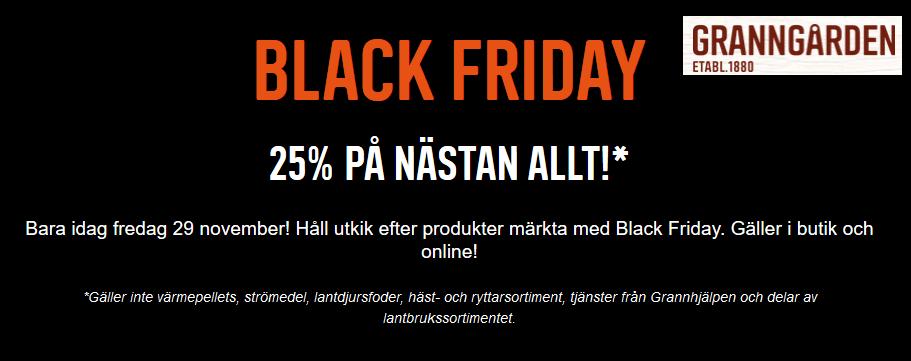 Black Friday Granngården endast idag!