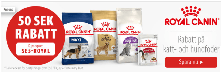 rabattkod royal canin