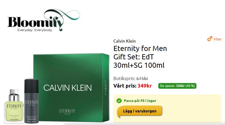 Ge bort Calvin Klein presentpaket