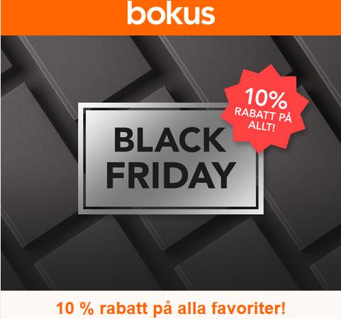 Om bara några timmar löper 10% rabatt på allt ut på Bokus!