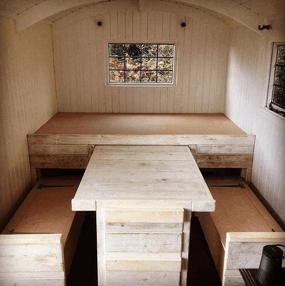 Bord och bänkar man kan skjuta in under säng