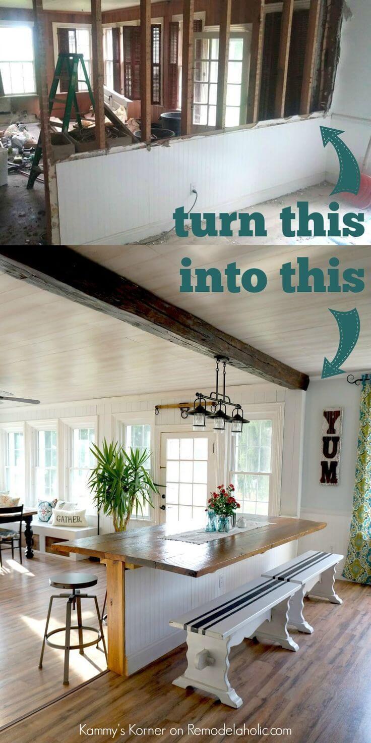 Inga bordsben och spara golvyta