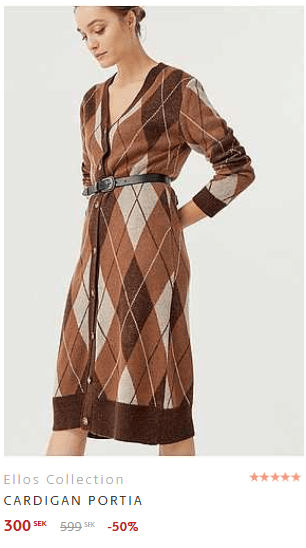 brun cardigan