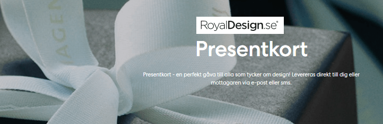 Presentkort på RoyalDesign