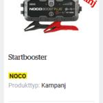 Starta bilen med en start jumper/booster