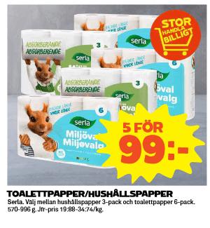Billigt toalettpapper