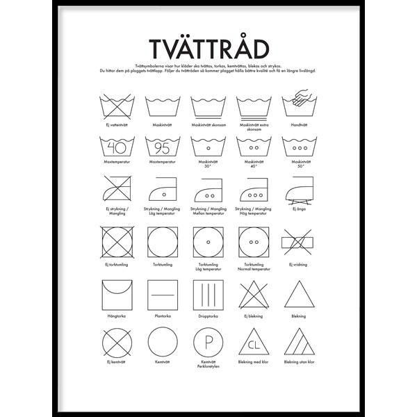 tvätta symboler