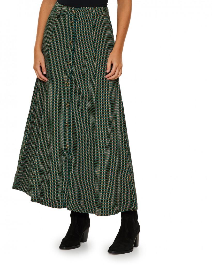 kjol med knäppning