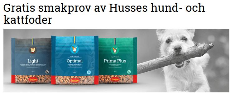 Husses hund- och kattfoder