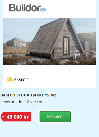 Bygga en Fjälltoppstuga, Tjakke!