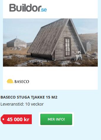 stuga kabin cabin tjakke friggebod