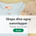 Sätt alltid namnlappar på barnens kläder