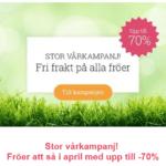 Vårkampanj på fröer och fri frakt!