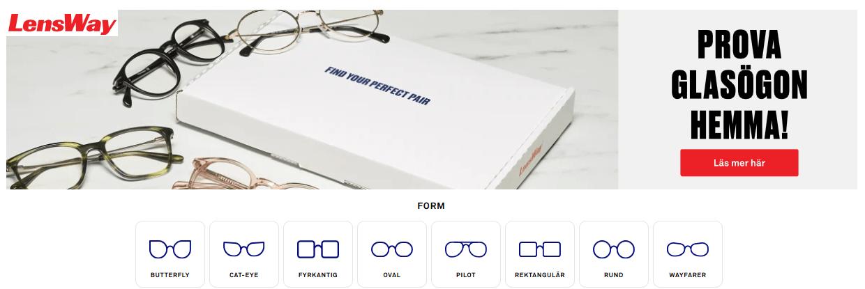 Prova glasögonbågar gratis hemma!