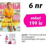 6 nr av amelia + Nivea hudvårds-kit 199 kr