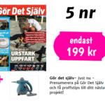5 nr av Gör det själv + Ångtvätt 199 kr
