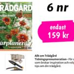 Sekatör och spade från Fiskars med trädgårdshandskar