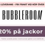 20% rabatt på jackor på Bubbleroom