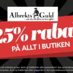 25% på allt hos Albrekts Guld