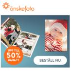 Upp till 50% rabatt på fotoprodukter hos Önskefoto