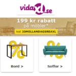 Flera rabattkoder på Vida XL.se på nätet