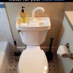 Spola toaletten med avloppsvatten från handfatet, toppen!