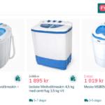 Praktiska mini-tvättmaskiner