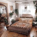 Sänghimmel och gardin i ett