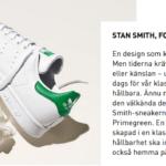 Adidas Stan Smith sneakers av återvunnet material
