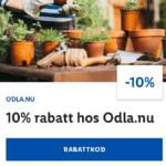 10% rabatt hos Odla.nu via Lidl appen