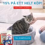 15% rabatt för nya och gamla kunder på Vetzoo.se