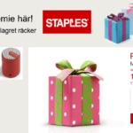 Hemlig gåva hos Staples