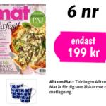 Allt om mat + 2 st Mon Ami muggar från Rörstrand
