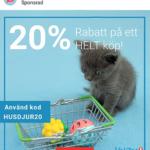 20% rabatt på Vetzoo för nya kunder