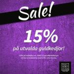 15% rabatt på guldkedjor