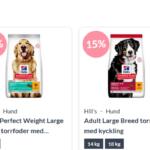 15% rabatt på Hill's Science Plan katt - och hundfoder