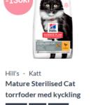 15% rabatt på Hill`s kattfoder