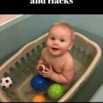 Tvättkorg i badkar till småbarn