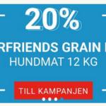20% rabatt på fourfriends hundfoder