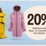20% rabatt på regn och vintertäcken till hund