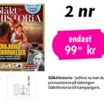 Släkthistoria med stavmixer som premie